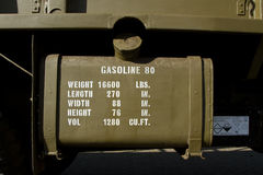 Vintage gasoline tank. Royalty Free Stock Photos