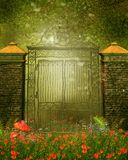 Vintage gate on a meadow Stock Photos