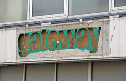 Vintage gateway shop sign Royalty Free Stock Photo