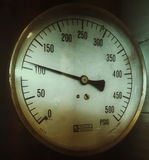Vintage gauge Stock Image