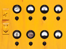 Vintage gauge panel Stock Images