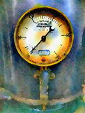 Vintage gauge watercolour. A vintage looking gauge in a watercolour effect Stock Image