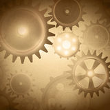 Vintage gear system. At grunge background Stock Image