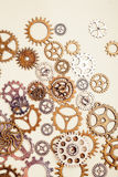 Vintage gear wheels on light background Royalty Free Stock Image