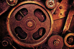 Vintage gears mechanism Royalty Free Stock Image