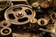 Vintage gears mechanism Royalty Free Stock Photo