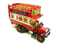 Vintage general open top red bus. Photo of an old vintage open top red london bus Stock Images