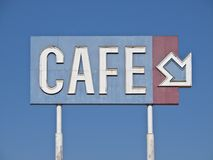 Vintage Generic Cafe Sign Royalty Free Stock Image