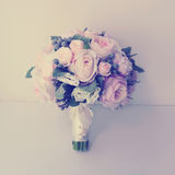 Vintage gentle wedding bouquet. Soft pastel colors Stock Image