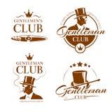 Vintage gentleman club vector emblems, labels, badges Stock Photo