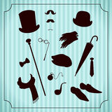 Vintage gentleman costume set Stock Photography