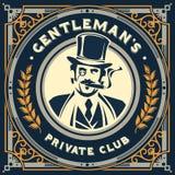 Vintage gentleman emblem, signage Stock Photo