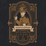 Vintage gentleman emblem, signage. Vector vintage gentleman emblem, label, signage and sticker Royalty Free Stock Images