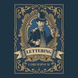 Vintage gentleman emblem, signage. Vector vintage gentleman emblem, label, signage and sticker Stock Image