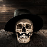 Vintage gentleman skull. Hipster style stock images