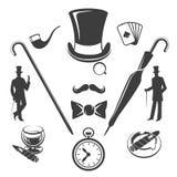 Vintage gentlemen symbols vector Royalty Free Stock Photo