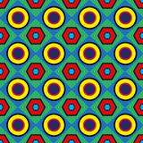 Vintage geometric abstract seamless pattern Stock Photography