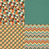 Vintage Geometric Background Pattern Set Stock Image
