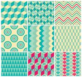 Vintage Geometric Background Pattern Set Stock Image