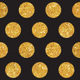 Vintage Geometric Glittery Gold Background. Seamless Pattern - in vector Royalty Free Stock Photos