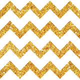 Vintage Geometric Glittery Gold Background. Seamless Pattern - in vector Royalty Free Stock Photo