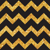 Vintage Geometric Glittery Gold Background. Seamless Pattern - in vector Stock Photo
