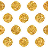Vintage Geometric Glittery Gold Background Stock Photography