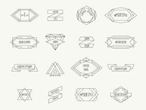 Vintage geometric hipster borders for labels Royalty Free Stock Photo