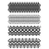 Vintage geometric ornament set on white background. Vector Stock Photography
