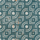 Vintage geometric seamless background, old vector repeat pattern Stock Photography