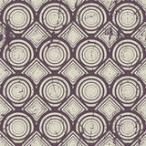 Vintage geometric seamless pattern, old vector repeat background Royalty Free Stock Photo