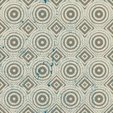 Vintage geometric seamless pattern, old vector repeat background Stock Photography