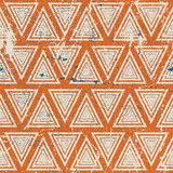 Vintage geometric seamless pattern, old vector Royalty Free Stock Images