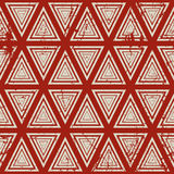 Vintage geometric seamless pattern, old vector Stock Image