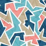 Vintage geometric triangle seamless pattern Stock Images