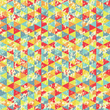 Vintage Geometric Triangles Pattern Stock Photo