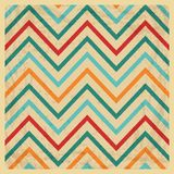 Vintage Geometric Zigzag Background Stock Photography