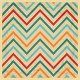 Vintage Geometric Zigzag Background Stock Photography