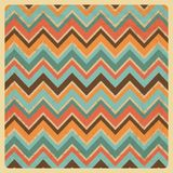 Vintage Geometric Zigzag Background Stock Image