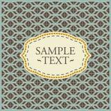 Vintage geometrical pattern Royalty Free Stock Photos
