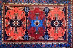 Vintage georgian carpet. Details of vintage georgian carpet on wall royalty free stock photo