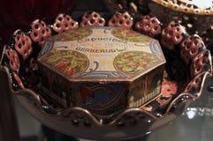Vintage Gerbaud chocolate box. Royalty Free Stock Photo