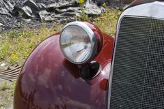 Vintage German Car - Mercedes-Benz. Star of a classic car show Royalty Free Stock Images