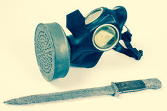 Vintage german civilian gas mask. WWII. Royalty Free Stock Images