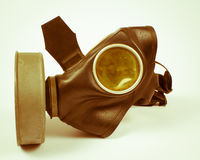 Vintage german civilian gas mask. WWII. Royalty Free Stock Photos