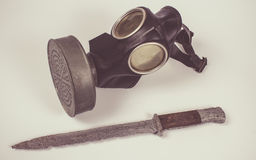 Vintage german civilian gas mask. WWII. Royalty Free Stock Image