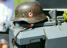 Vintage german hard hat Stock Photography