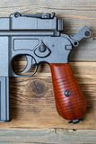 Vintage German Mauser pistol gun Stock Photo