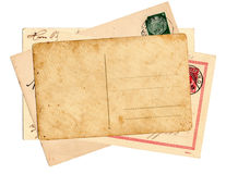 Vintage german postcards. German reich postcards isolated in white background royalty free stock photography