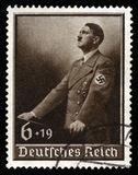 Vintage 1939 German Reich Stamp. GERMANY - CIRCA 1939: A vintage German Reich Postage Stamp portraying an image Adolf Hitler, circa 1939 Stock Images